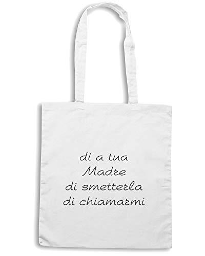 Shirt A TDM00054 Bianca Shopper Speed CHIAMARMI MADRE SMETTERLA DI DI DI Borsa TUA 4HwfxF