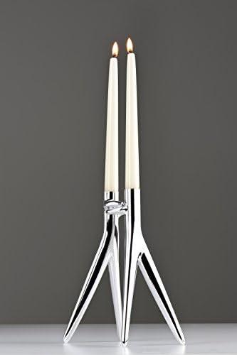 2 x 25 x 11 cm Bianco Kartell Abbracciaio Candelabro 100/% Alluminio