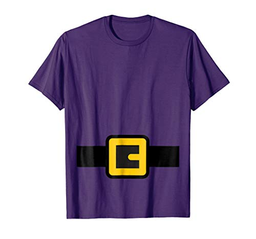 Mens Dwarf Costume Shirt, Halloween Matching Shirts for Group 2XL Purple