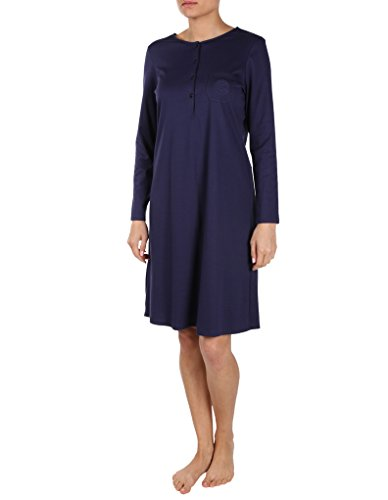 (Feraud Marine Blue Cotton Long Sleeve Button-Down Nightdress 3883026-10004 8)