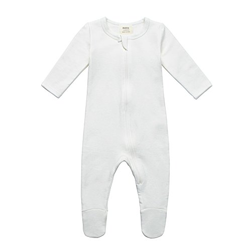 Owlivia Organic Cotton Baby Boy Girl Fleece Zip up Sleep N Play, Footed, Long Sleeve (Size 0-18 Month)