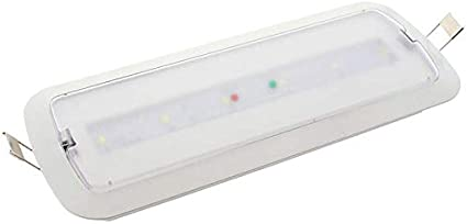 Luz Emergencia LED NICELUX PRO 3W, 200 lúmenes. Permanente - No permanente. 3 Horas de Autonomía Blanco Frío 6000K. Instalación de Superficie y Empotrable. 3 horas de autonomía.