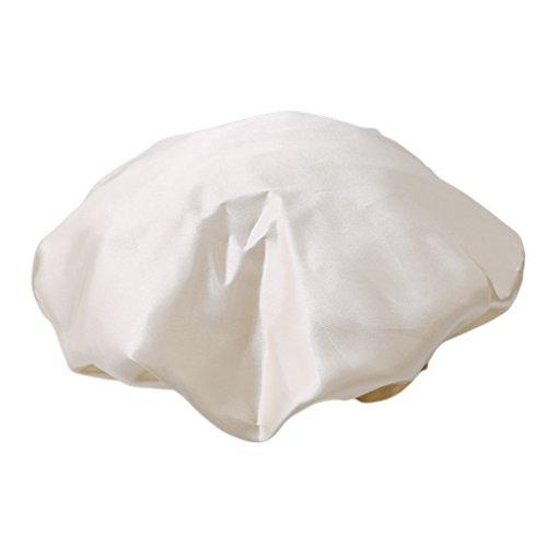 Doland Shower Cap, 1 Pc Bath Cap Designed for Women Waterproof Double Layer Satin Lined