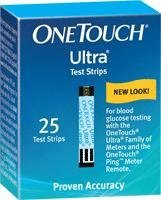 OneTouch Ultra Blue Blood Glucose Test Strip (25 count) [Box of 25]