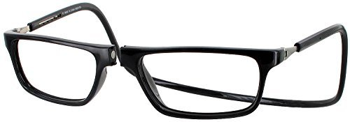 Clic Executive Single Vision Full Frame Designer Reading Glasses, Black, - Glasses Frames Vision
