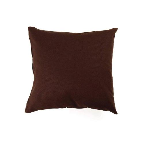 Hans-Textil-Shop 10000659-016 Kissenbezug 40 x 40 cm Uni, Baumwolle Canvas mit Reissverschluss, dunkelbraun