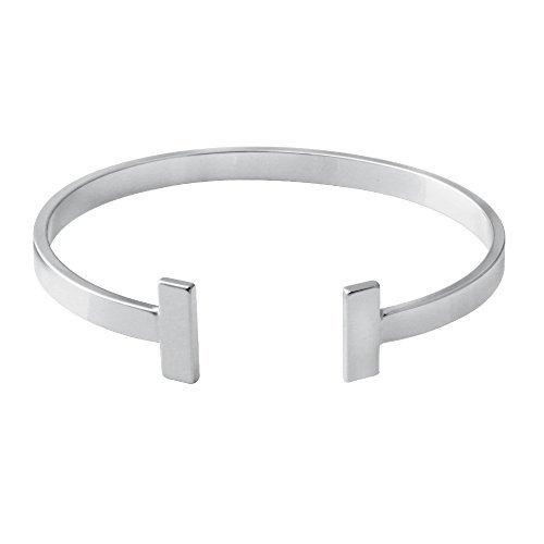 Simple Gold Silver Double Bracelet