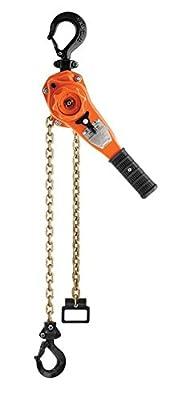 """CM BAN15010 Bandit Ratchet Lever Hoist, 16.46"""" Length, 1-1/2 Ton Capacity, 10' Lift"""