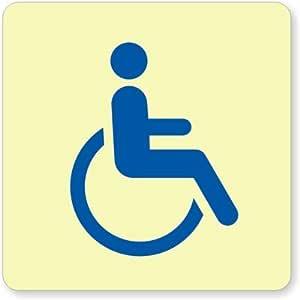 "GlowSmart Handicap Accessible Marker Sign, 4.5"" x 4.5"""