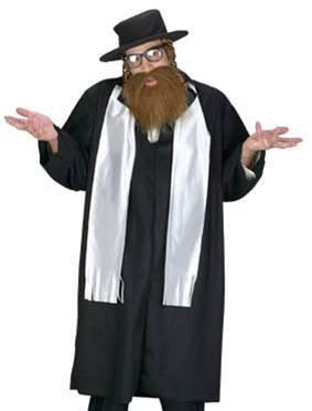 FunWorld Mens Adult Rabbi Costume