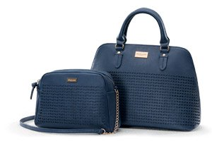 158f8d7e04148 Oriflame Combo of Big and Small Polyester Bag (Blue)  Amazon.in ...