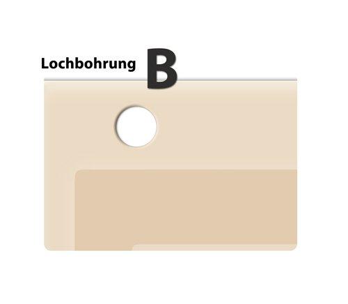 Lochbohrung B fü r systemceram Keramikspü len