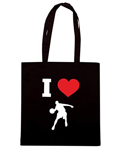 BASKETBALL Borsa TLOVE0098 Nera Shopper I LOVE aRXPq