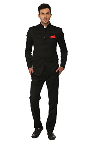 Jet Black Mens Suit - 4