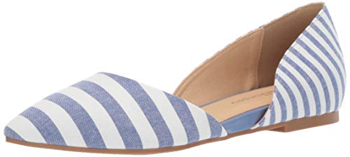 CL by Chinese Laundry Women's Hearty Ballet Flat, Blue/White, 8 M US