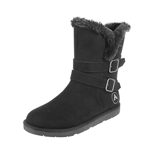 Airwalk Women's Black Suede Women's Nia Cozy Boot 6.5 Regular (Airwalk Boots)