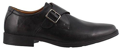 Clarks Men's Tilden Style Monk-Strap Loafer, Black Leather, 9.5 W US