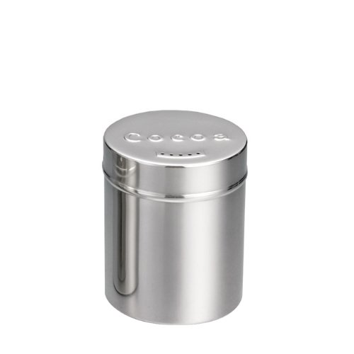 6 Ounce Stainless Steel Cocoa Shaker (15-0246) Category: Spice Shakers
