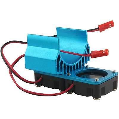 FidgetGear RC 1/10 540/550 Motor (3650) Alum Heat Sink DC5V Dual Fan Cooling Blue Part from FidgetGear