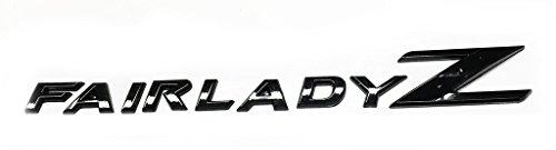 Black Fairlady Z Emblem Replace OEM Fair Lady Z Fender / Trunk Badge 350Z 370Z ()