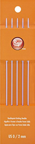 Boye 6307-0 0/2mm Double Point Aluminum Knitting Needles, 7