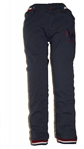 Jungen Thermohose Schneehose gefütterte Hose warm Gr.98 bis 146 schwarz / grau Gummizug, Grösse Bekleidung:110/116;Farbe:Blau