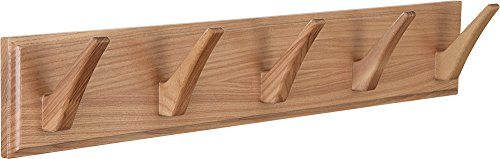Wall Mounted Coat Rack - Wood Hook Rack for Coat Clothes Hats and Towels - Wooden Peg Rack for Use in Bedrooms Bathrooms and Hallways - Peg Coat Hook Rack for Wall or Door Mounting - Matt Lacquer - 100% WOODEN - NOT particle board, NOT MDF. The wall mounted coat rack are manufactured from solid, natural wood (ash-tree). MULTIFUNCTIONAL USE - The wood wall coat rack perfectly organizes your belongings: clothes, coats, towels, hats and belts. UNIVERSAL - The wood coat rack wall mounted can be used in a hallway, bedroom, bathroom, kitchen, or nursery. - entryway-furniture-decor, entryway-laundry-room, coat-racks - 31B1osDnjpL -