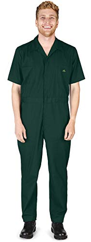 NATURAL WORKWEAR - Mens Regular and Big Sizes Short Sleeve Coverall, Green 40589-X-Small by NATURAL WORKWEAR (Image #2)