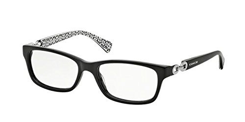 Coach Women's HC6052 Eyeglasses Black/Black White Sig C 52mm
