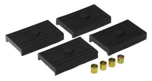 (Prothane 7-1708-BL Black Rear Upper and Lower Multi Leaf Spring Pad Kit )
