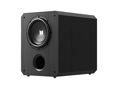 Monolith 10 Inch Powered Subwoofer – Black | THX Select Certified, 500 Watt Amplifier, 10 Inch Driver for Studio & Home Theater