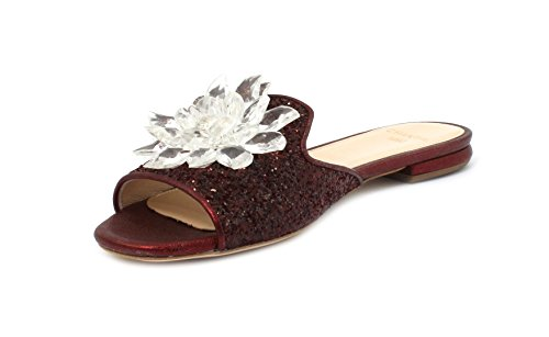 CHANTAL Slipper Glitter Bordeaux 632 Taglia 40 - Colore Bordeaux HnQQ5z7