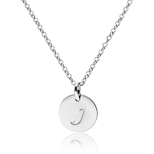 Three Keys Jewelry Stainless Steel Silver Tone Initial Alphabet 0.4