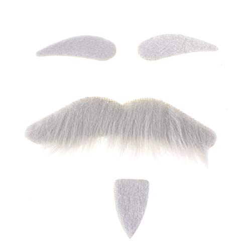 Halloween Ideas With Beards (BinaryABC Halloween Costumes Self Adhesive Fake Eyebrows Beard Moustache,Halloween Masquerade Cosplay Costume Accessories,Halloween Party)