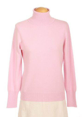 Shephe Womens Turtleneck Cashmere Sweater Pink (Pink Cashmere Cardigan)