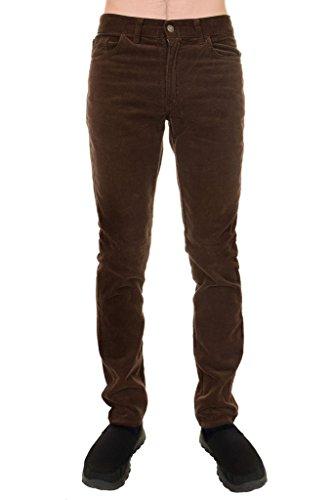 Men's 60's Indie Mod Retro Vintage Brown Corduroy Slim Skinny Fit - Male Indie Fashion