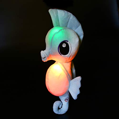 Athoinsu Glow Seahorse Light up Stuffed Animals LED Soft Plush Toys with Colorful Night Light Bedtime Companion Kids Friends Mothers Gifts, Blue, 15''