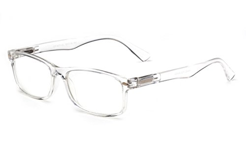 Newbee Fashion - Unisex Translucent Simple Design No Logo Clear Lens Glasses Squared Fashion Frames