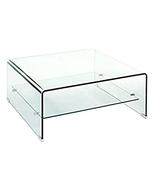 Square Glass Coffee Table Amazon Co Uk Kitchen Home