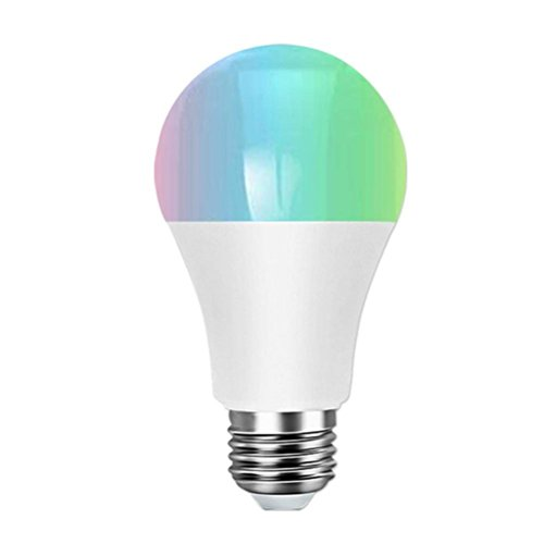 Liping LED E27 Lamp WiFi Smart Light Bulb Dimmable Multicolor Wake-up Lights Lamp Voice Control RGB Magic Light Compatible with Alexa and Google Assistant (A) by LiPing