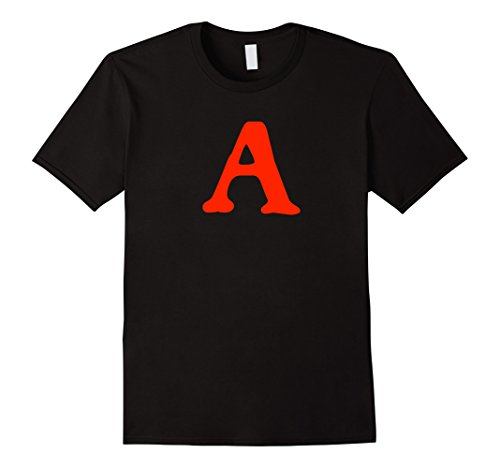 Adulteress Costume (Mens Scarlet Letter T Shirt 3XL Black)