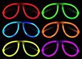 6 Assorted Colors of 12 Individually Packaged Glow In the Dark Aviator Style Glasses Offered As a Non-Toxic Alternative to Similar Products in The Market. The glow in the dark glasses are amazing additions and party favors for any event- be i...