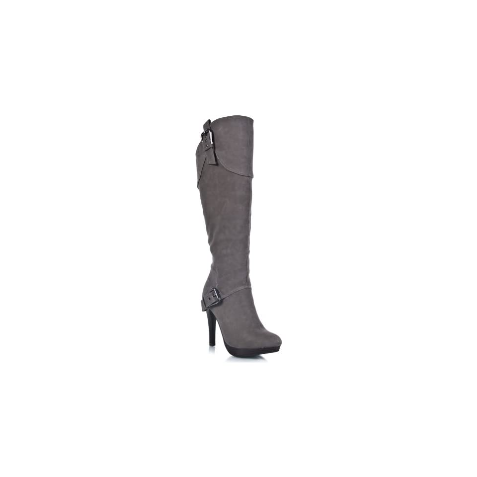 Anne Michelle Motive 04 Leatherette Knee High Boot
