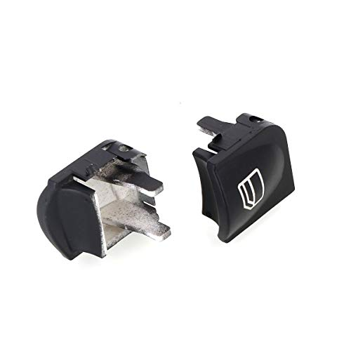 Image of DEALPEAK 2pcs Electric Window Switch Console Cover Caps for Mercedes