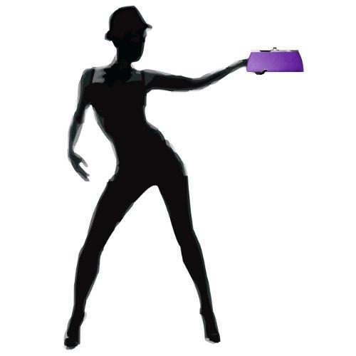 Caspar clásica mujer satén Clutch/bolso con gancho de metal elegante–Muchos colores–ta309 morado