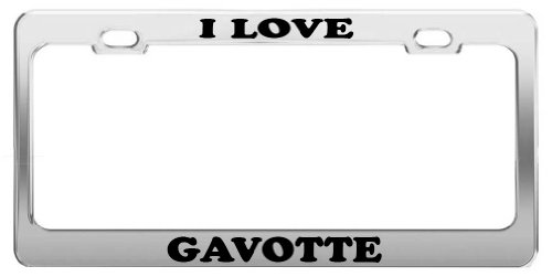 I LOVE GAVOTTE Tag License Plate Frame Gift Car Accessory