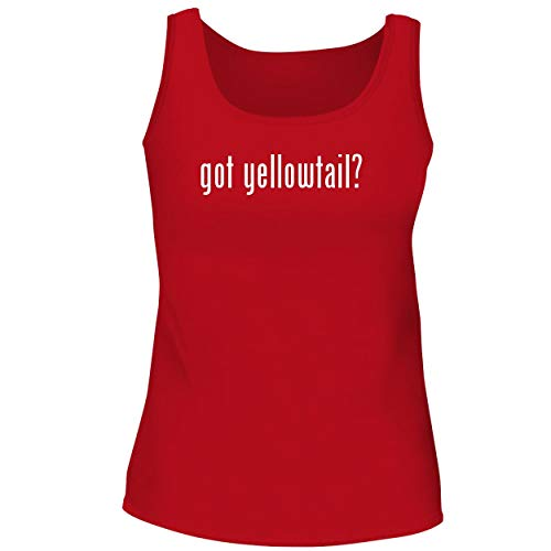 BH Cool Designs got Yellowtail? - Cute Women's Graphic Tank Top, Red, Large