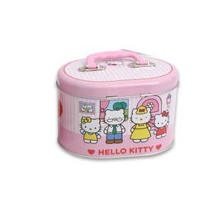 Hello Kitty and Family Tin Tote Box - Hello Kitty Tin Box