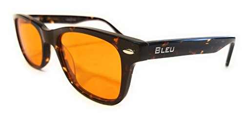 Blue Light Blocking Glasses By Bleu -FDA Registered Computer Eyewear & Gamer Glasses for Deep sleep - Digital Eye Strain Prevention & Eye Fatigue - Bonus Micro Fiber Case