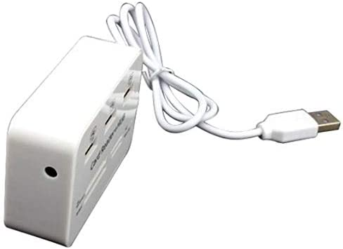 3 Ports USB 2.0 HUB Multi-card Reader for Sd//mmc//m2//ms Mp-all in One White Value-5-Star